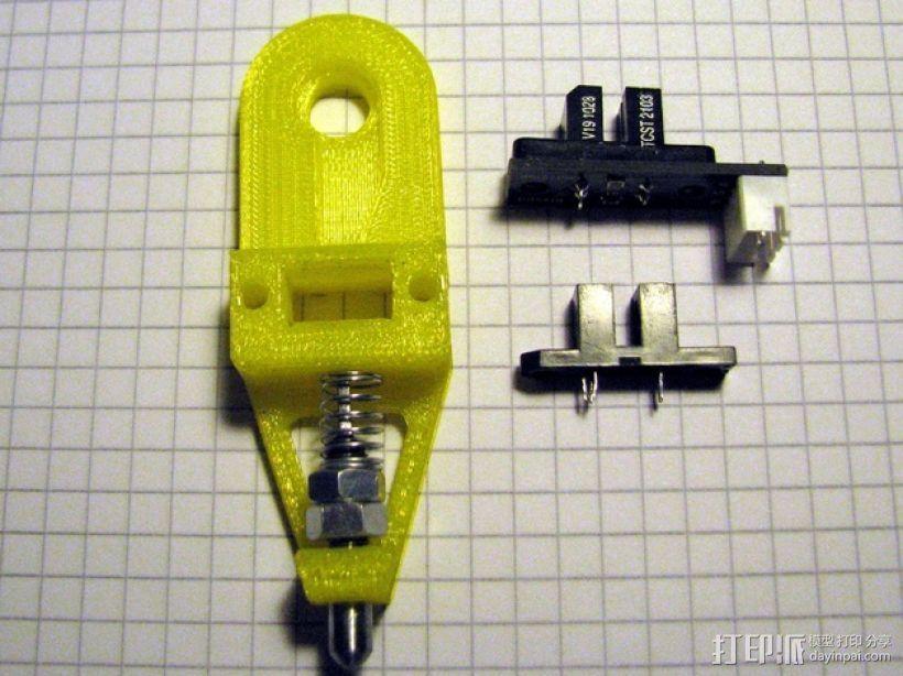 打印机调平探针 3D打印模型渲染图