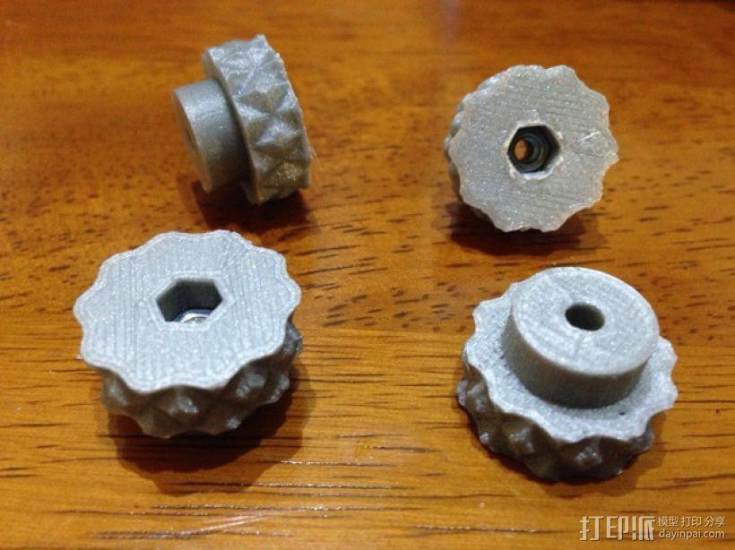 打印床调平器蝶形螺钉 3D打印模型渲染图