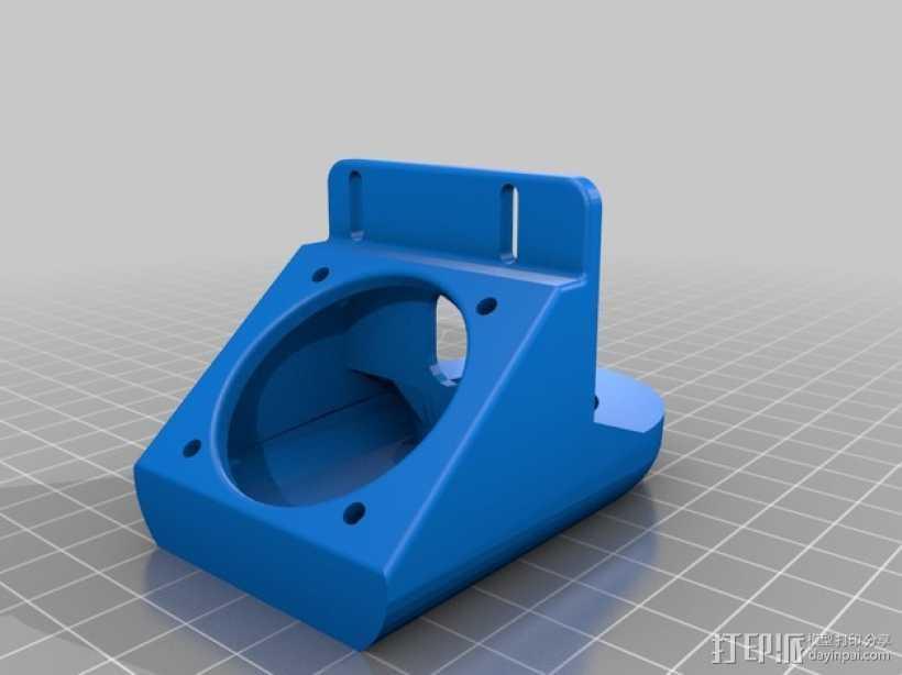 J-Head式喷头风扇导管 3D打印模型渲染图