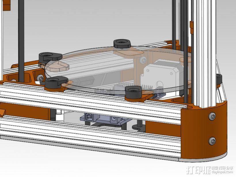 打印机玻璃板固定器 3D打印模型渲染图