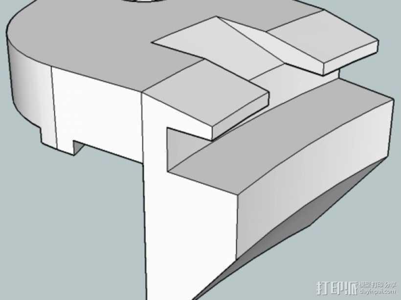 打印床支撑器 3D打印模型渲染图