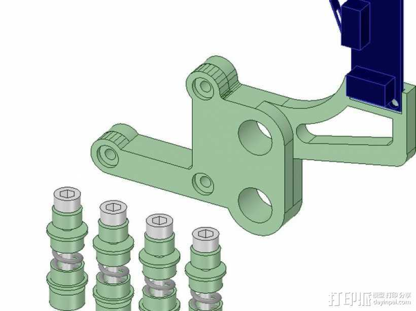 Prusa i3打印床调平器弹簧套件 3D打印模型渲染图