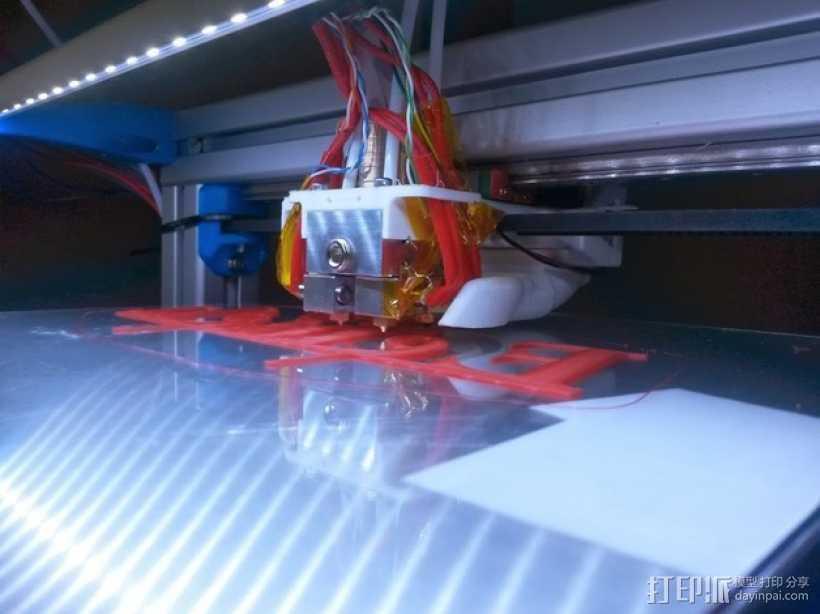 喷头支架 风扇支架 3D打印模型渲染图