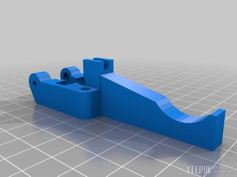 挤出机惰轮 3D打印模型渲染图