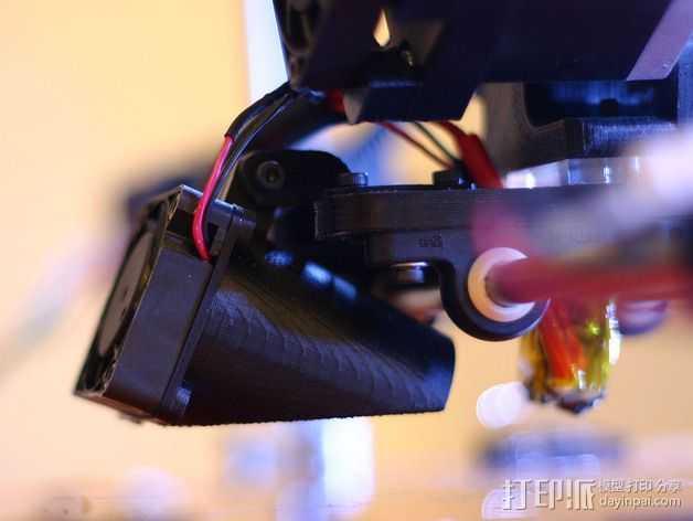 MakerDev 挤出机风扇支架 3D打印模型渲染图