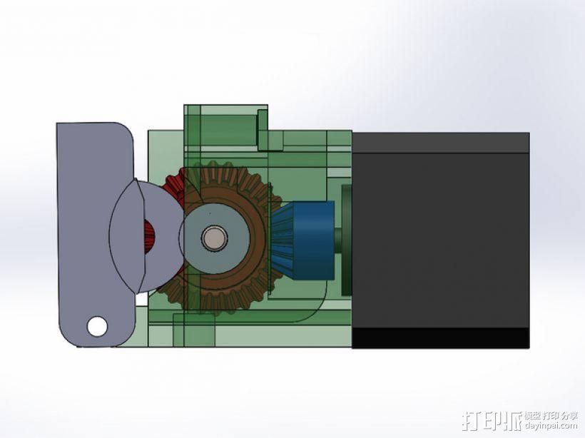 齿轮挤出机 3D打印模型渲染图