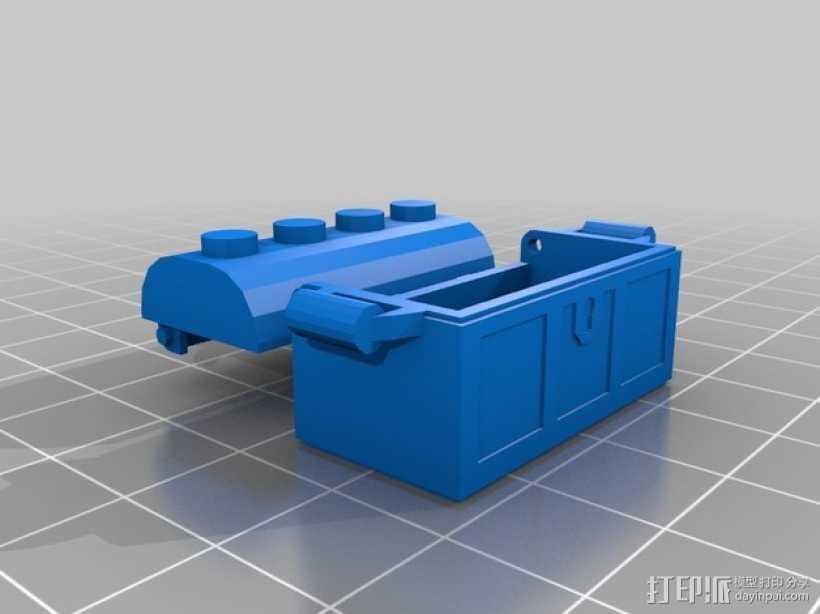 乐高小盒子 3D打印模型渲染图