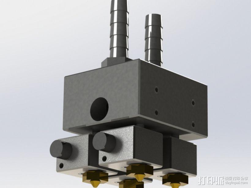 E3D Kraken挤出机 3D打印模型渲染图