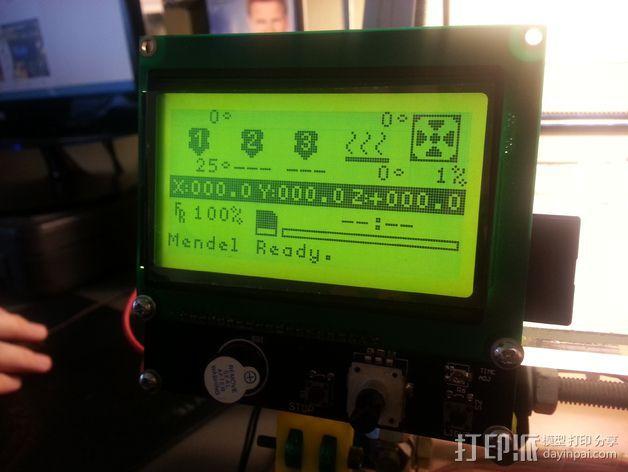 智能控制器液晶显示屏支架 3D打印模型渲染图