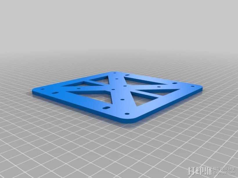 K8200 / 3Drag打印机铝制接板全套配件 3D打印模型渲染图