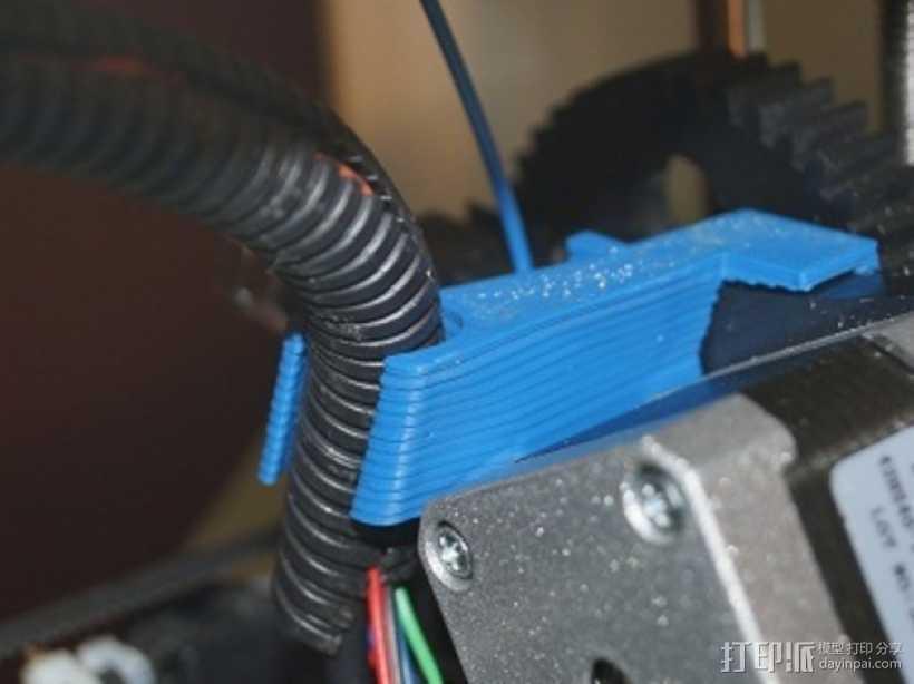 侧边电缆锁固装置 3D打印模型渲染图