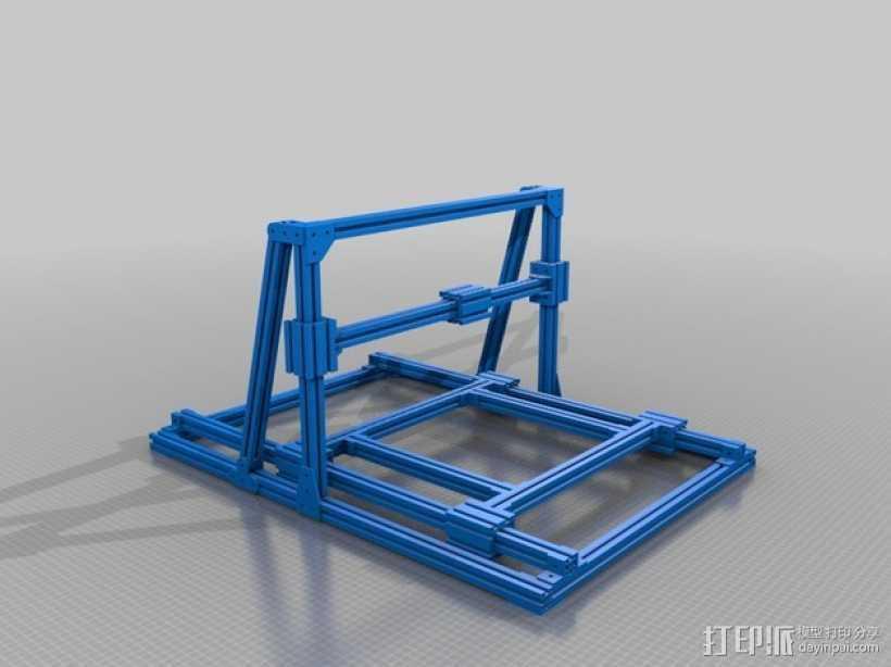 铣床框架 3D打印模型渲染图