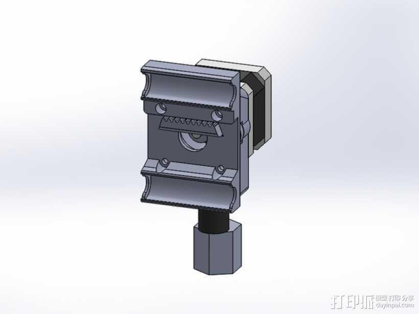 挤出机安装支架 3D打印模型渲染图