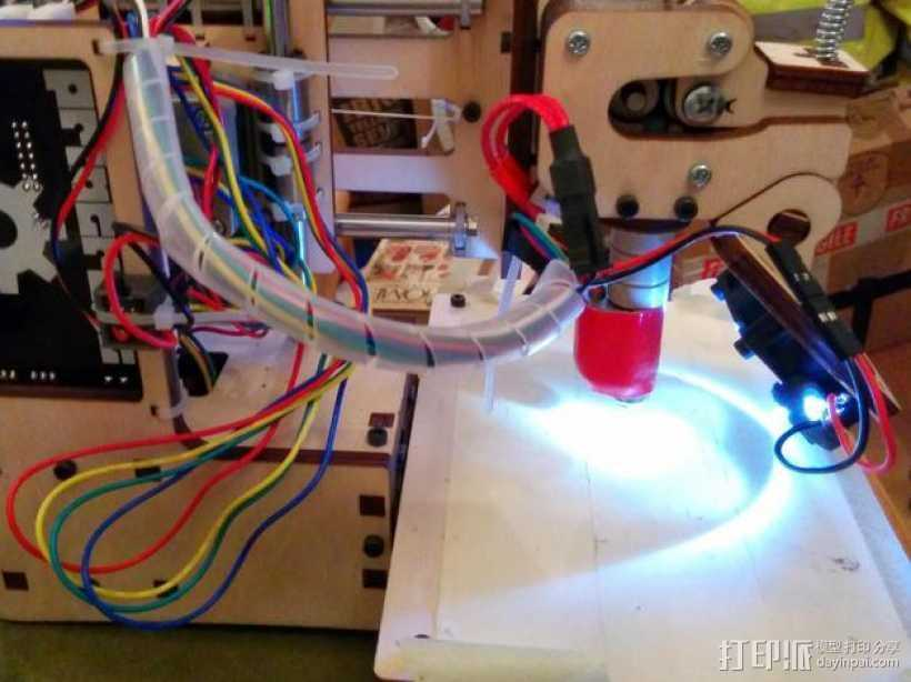 LED灯灯环固定器 3D打印模型渲染图