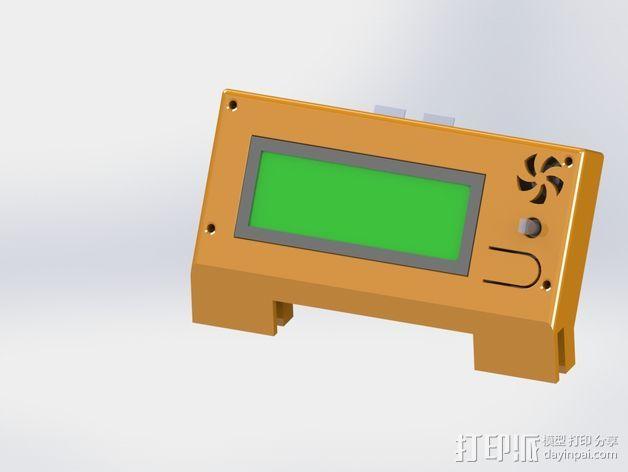 控制器显示屏支架 3D打印模型渲染图