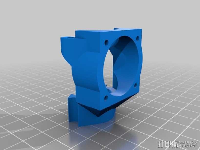 E3D喷头支架 3D打印模型渲染图
