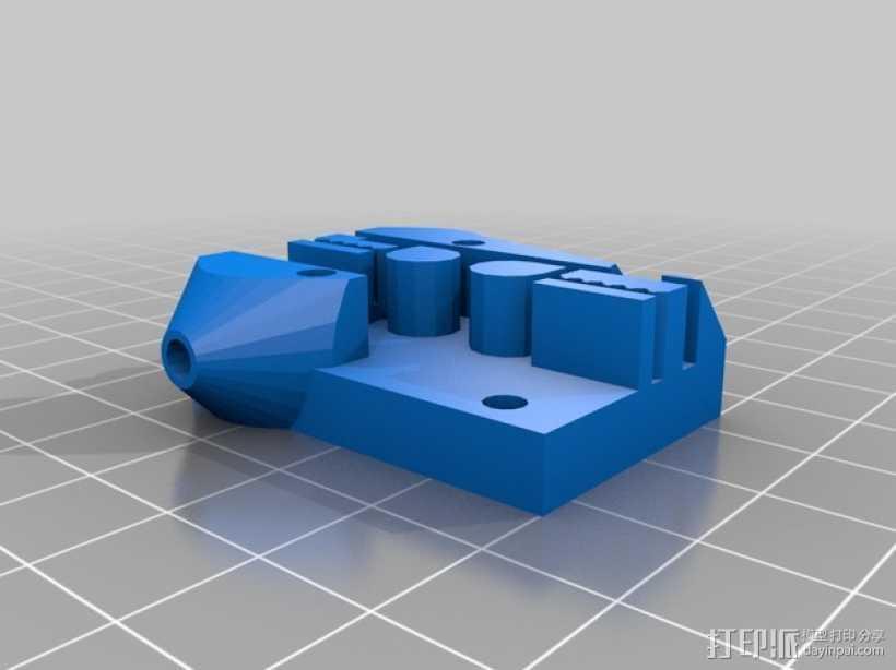 Kossel 打印机皮带固定器 皮带架 3D打印模型渲染图