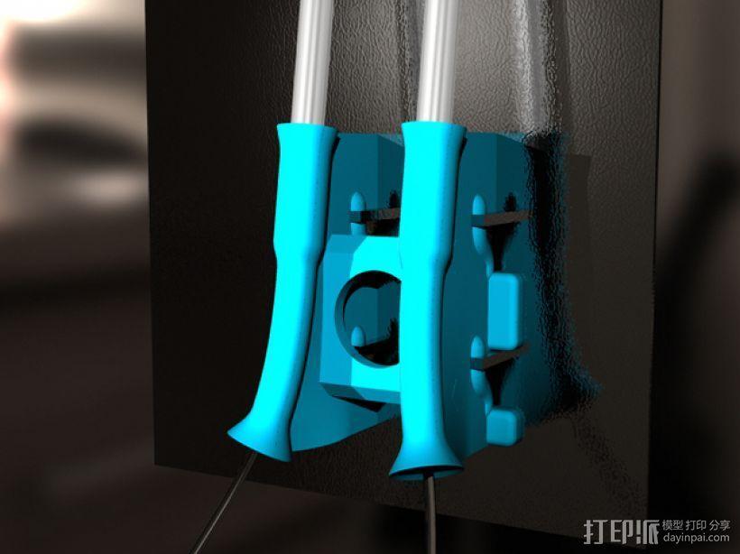 线材清洁器 滤尘器  3D打印模型渲染图