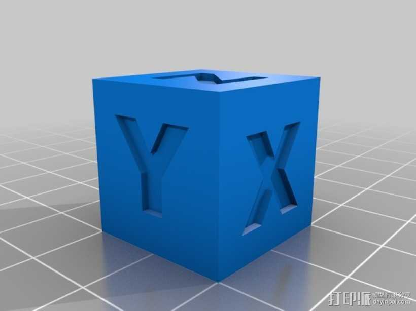 20毫米的校准方块 3D打印模型渲染图