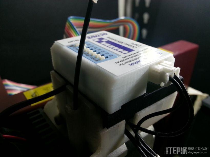 多功能温度开关外盒 3D打印模型渲染图