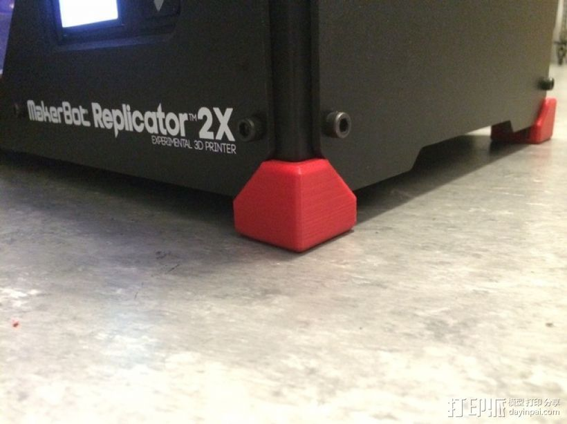 Replicator 2/2X打印机脚垫 3D打印模型渲染图