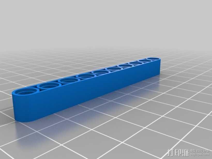 乐高横梁 3D打印模型渲染图