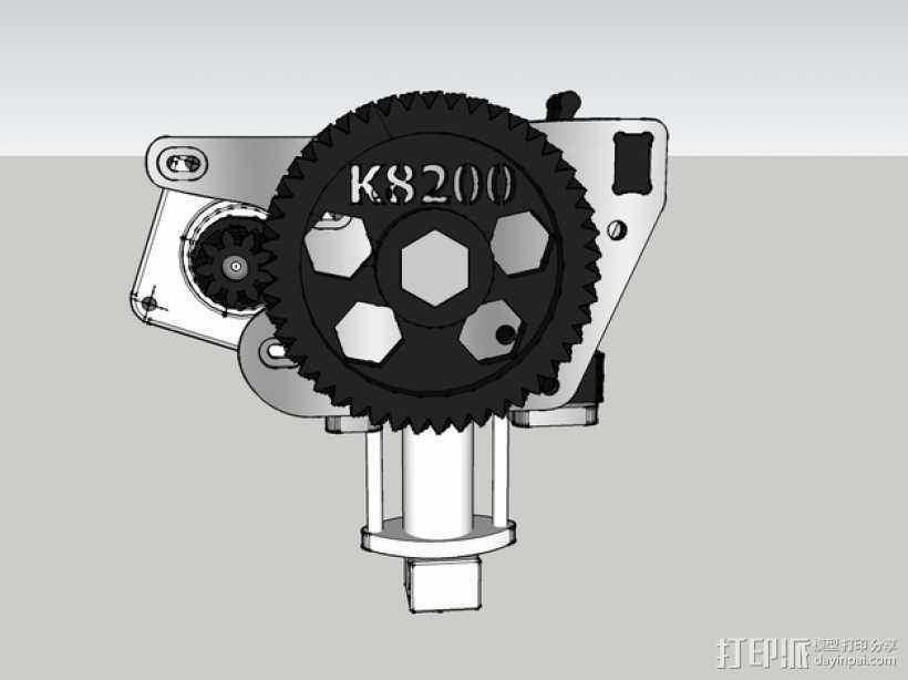 鱼骨齿轮 人字齿轮 3D打印模型渲染图