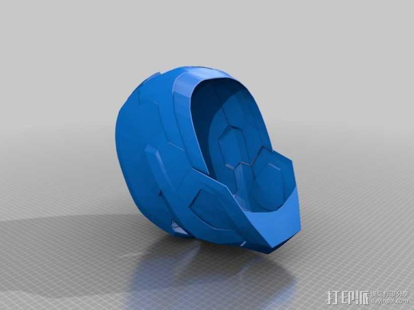 钢铁爱国者 头盔 3D打印模型渲染图