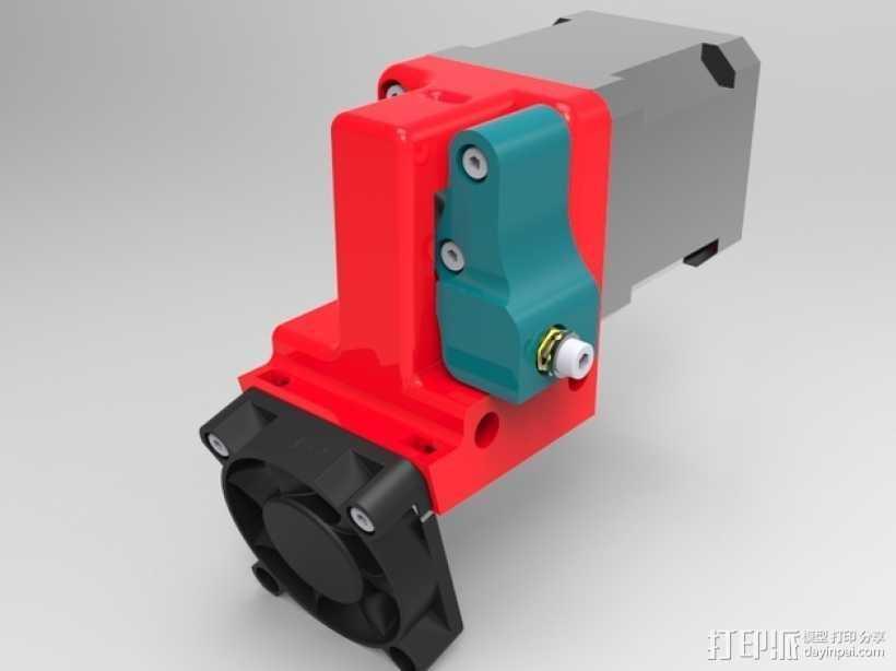 1.75毫米挤出机 3D打印模型渲染图