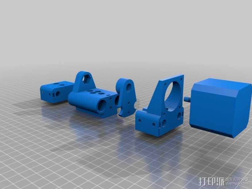 悬浮马达 3D打印模型渲染图