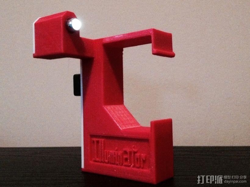 照明器支架 3D打印模型渲染图