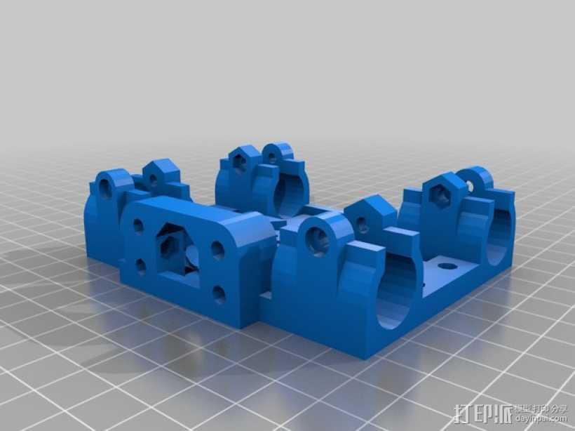 Mendel 打印机轴承固定器 3D打印模型渲染图