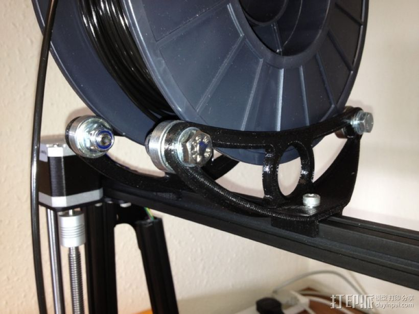 Mendelmax打印机的线轴支撑器 3D打印模型渲染图