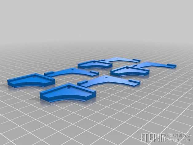 MK2热床夹 3D打印模型渲染图