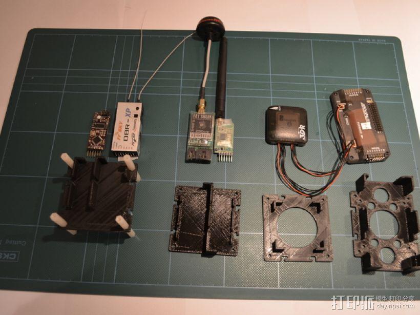 电路板保护罩 电路板支架 3D打印模型渲染图