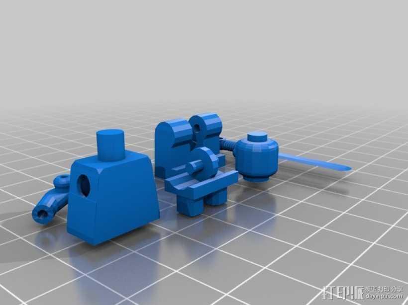 乐高机器人 3D打印模型渲染图