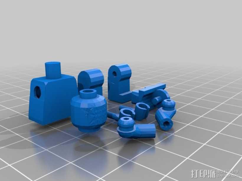乐高小人偶 3D打印模型渲染图
