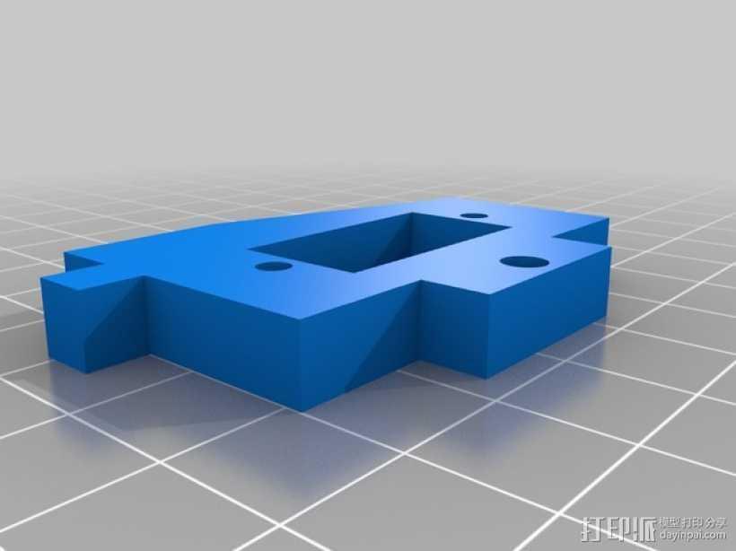 参数化马达支架 自动调平器 3D打印模型渲染图