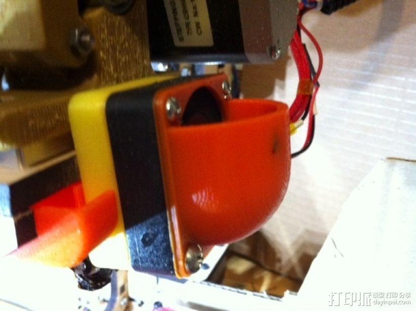 MakerFarm Prusa i3 打印机散热装置 3D打印模型渲染图