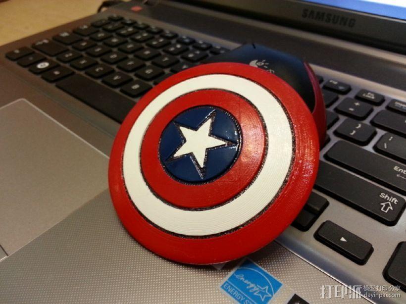 美国队长的盾牌 3D打印模型渲染图