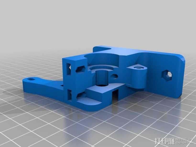 Greg's Wade挤出机的喷头支架 3D打印模型渲染图