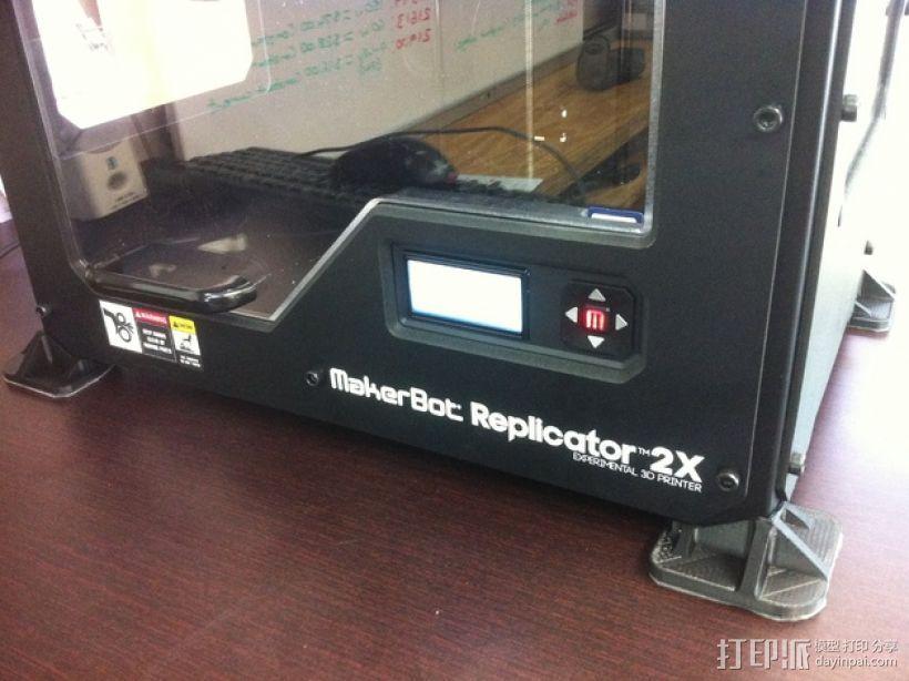打印机脚垫 3D打印模型渲染图
