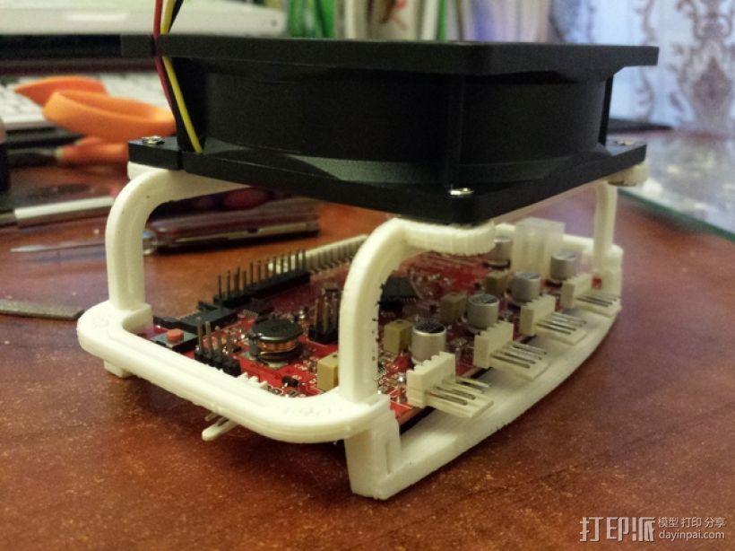 电路板风扇 3D打印模型渲染图