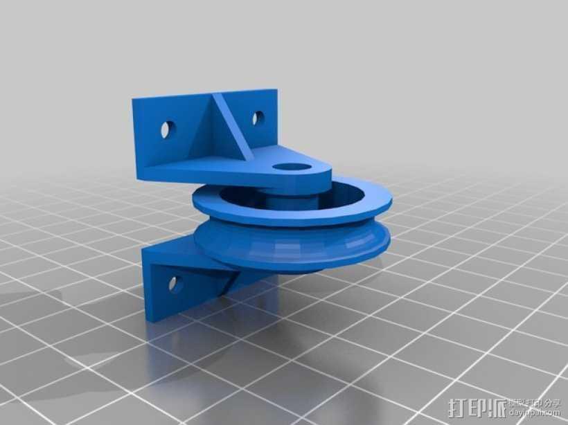 608惰轮(带支架) 3D打印模型渲染图