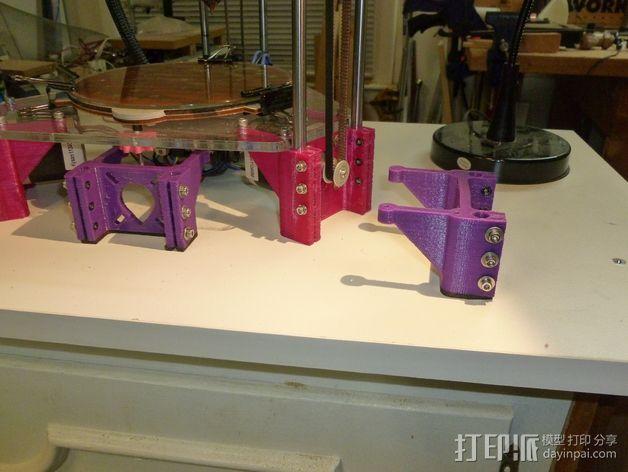 Rostock-Mini打印机底部支撑器 3D打印模型渲染图