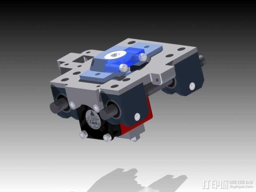 挤出机 喷头支架 3D打印模型渲染图