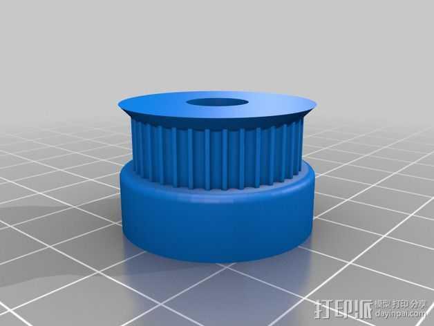 GT2皮带轮 滑轮 3D打印模型渲染图