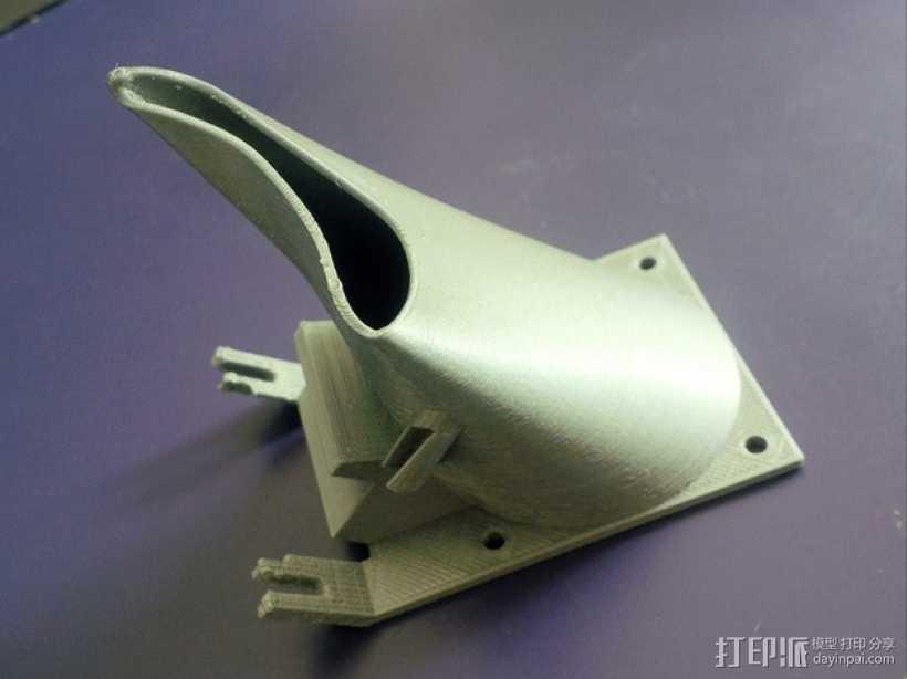 Ultimaker 打印机风扇导管 3D打印模型渲染图
