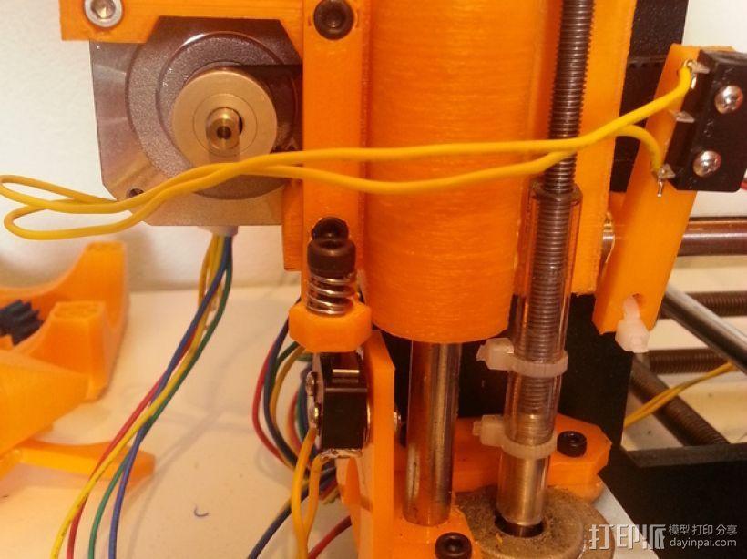可调节的Z轴限位开关 3D打印模型渲染图