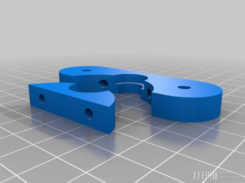 J-Head式喷头支架 3D打印模型渲染图